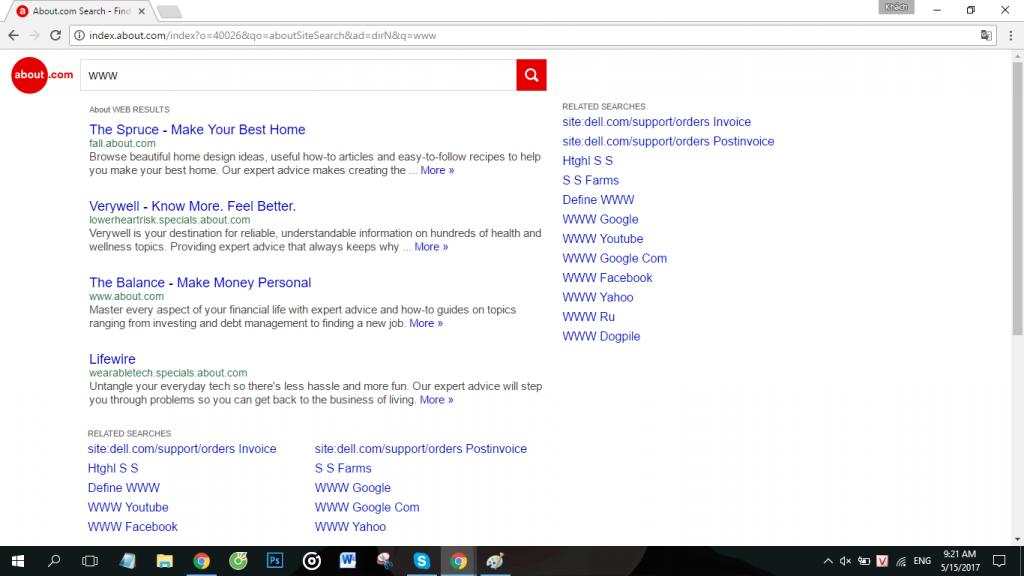 Đây là URL của trang about.com/library/nosearch/
