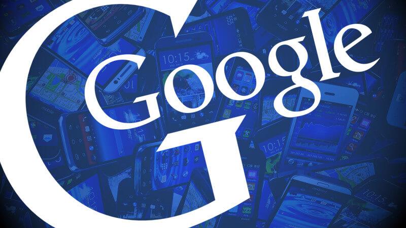 Google mobile smartphones blue