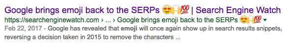 emoji article title