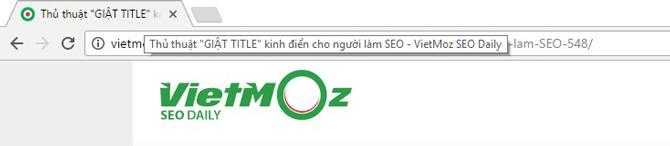 Tiêu đề xuất hiện trên các tab trên website của bạn
