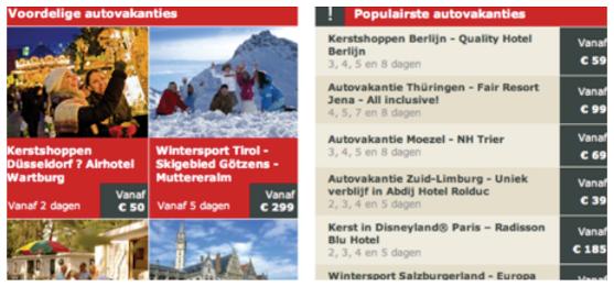 Mẫu quảng cáo với tiêu đề điểm du lịch phổ biến nhất