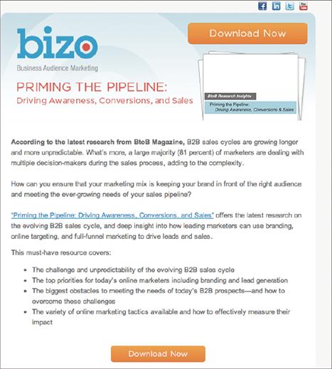 Email thiết kế theo hướng quảng cáo của Bizo
