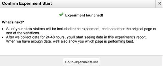 lựa chọn trang thực hiện thử nghiệm