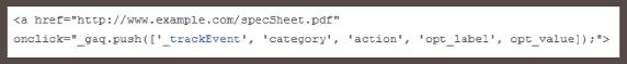 Mã code ví dụ để Google Analytics theo dõi cho phù hợp