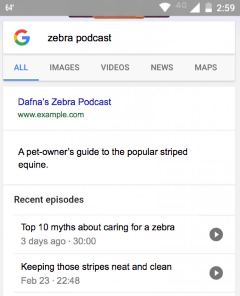 Google đã đưa hình ảnh thực tế để chứng minh về podcast