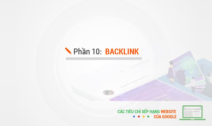 Các tiêu chí xếp hạng của Google – Phần 10: Backlink