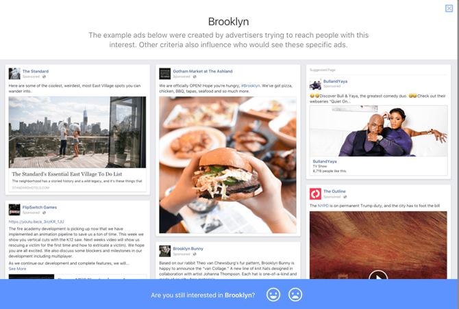 Các mẫu quảng cáo hiển thị với tệp khách hàng ở Brooklyn