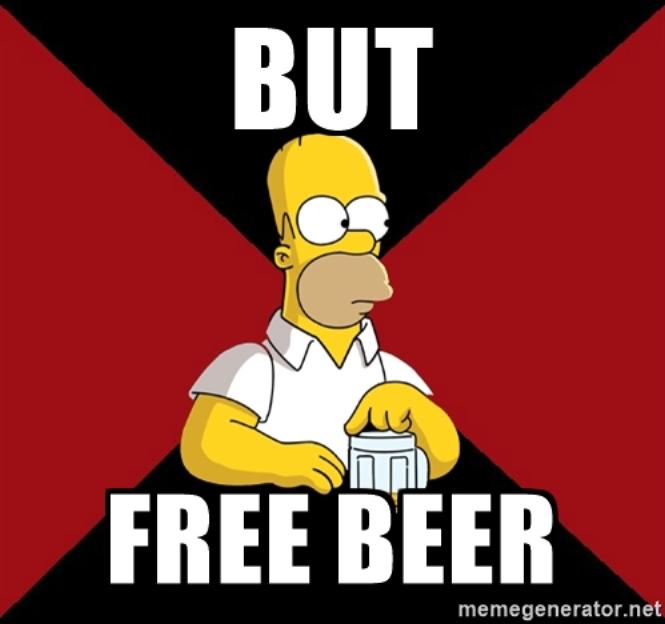 Nếu không có beer miễn phí thì sao?
