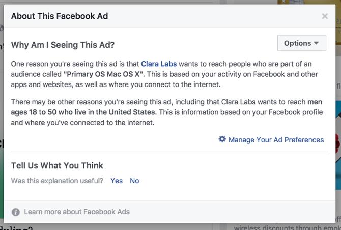 Những thông tin cho biết tại sao quảng cáo lại xuất hiện trước mặt bạn