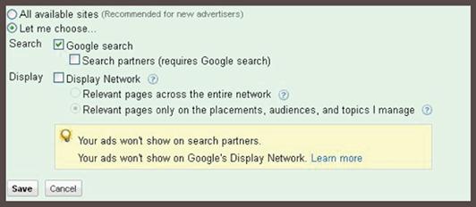 Tính năng tùy chọn chọn mạng hiển thị