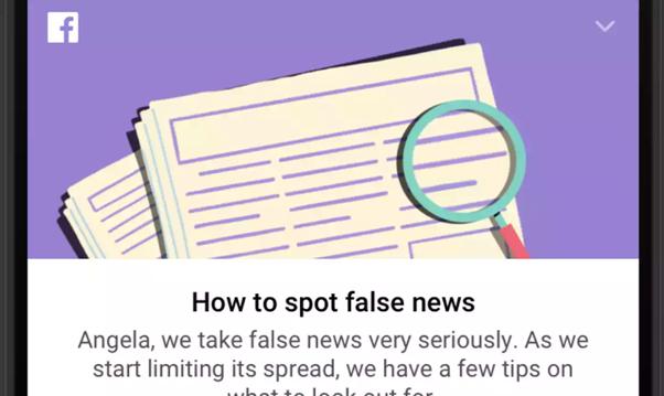 Facebook hướng dẫn người dùng cách tìm ra thông tin không đúng sự thật