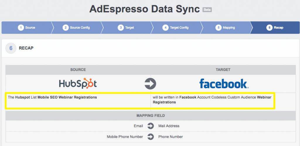 Sử dụng tính năng đồng bộ dữ liệu để tạo tập khách hàng tùy chỉnh trên Facebook