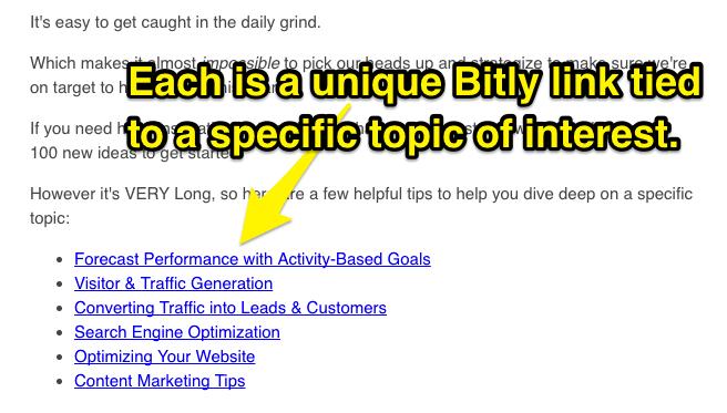 Thêm liên kết vào trong email để xem khách hàng có click vào không