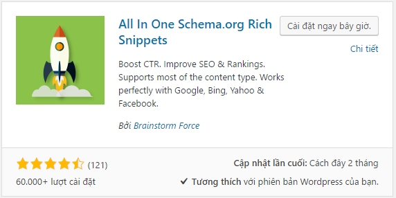 Cài đặt all in one schema.org rich snippet