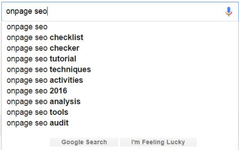 Tìm từ khóa LSI thông qua gợi ý của Google