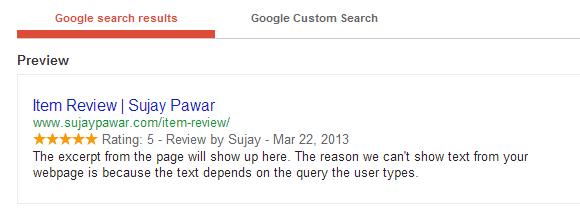Xem trước kết quả trả về xuất hiện trên Google
