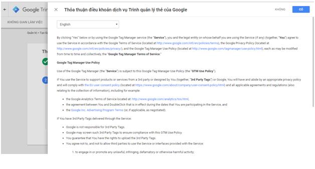 Hướng dẫn cài đặt Google Tagmager
